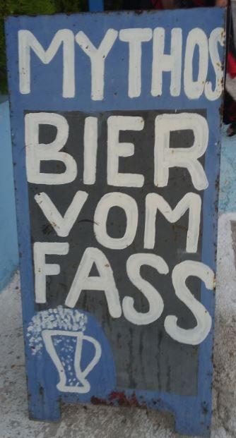 Mythos - Bier vom Fass, Marmari, Kos - Foto: S. Hopp