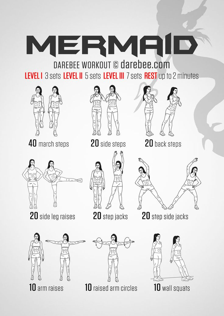 Mermaid Workout, or oh, look, a workout I can actually do.