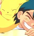 Pikachu and Ash from Pokemon