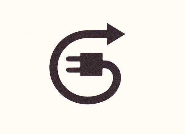Plug + Arrow Pictogram / Icon Design
