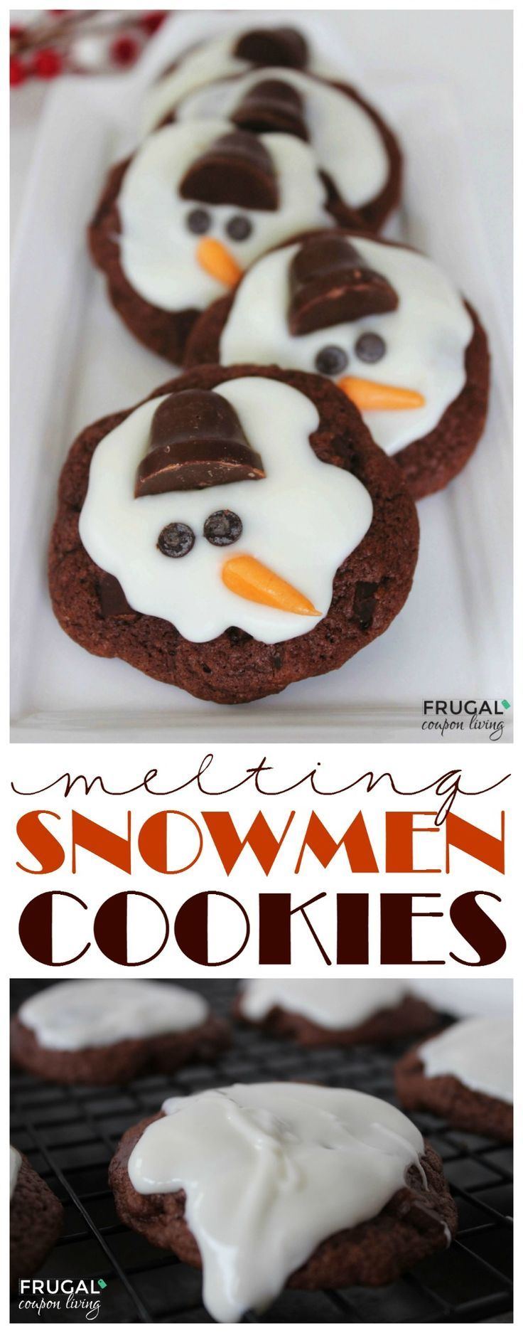 Frugal Coupon Living's Melting Snowman Cookies. These are a great idea for a Cookie Exchange Recipe for the Holiday season. Great classroom party idea too!