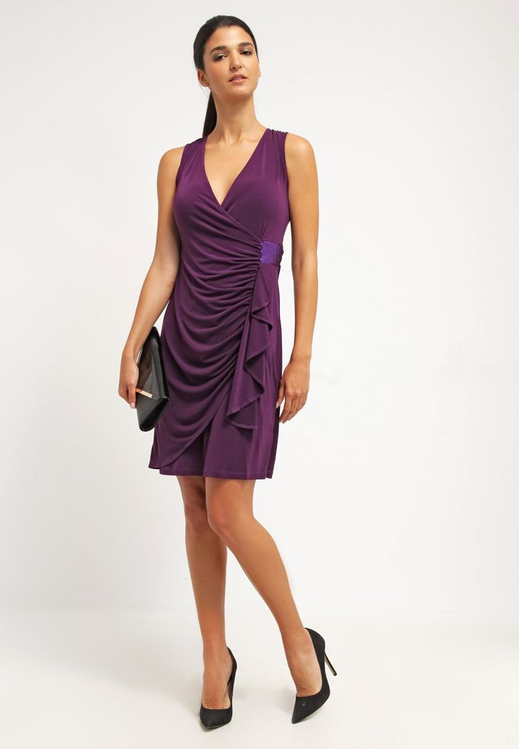 ¡Cómpralo ya!. Anna Field Vestido de algodón dark purple.  , vestidoinformal, casual, informales, informal, day, kleidcasual, vestidoinformal, robeinformelle, vestitoinformale, día. Vestido informal  de mujer color púrpura de Anna field.