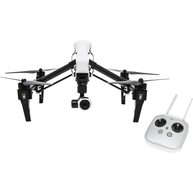DJI Inspire 1 (Single Remote) - For serious drone lovers, the DJI Inspire 1 features strong carbon fiber arms that lift out of sight, transforming the way you shoot video. Get a full, unrestricted 360 degree view of the world below and create images like never before. Shoot up to 4K video and capture 12 megapixel photos with the Inspire 1 camera. The lens consists of 9 separate elements, including an aspherical element, for extreme clarity.