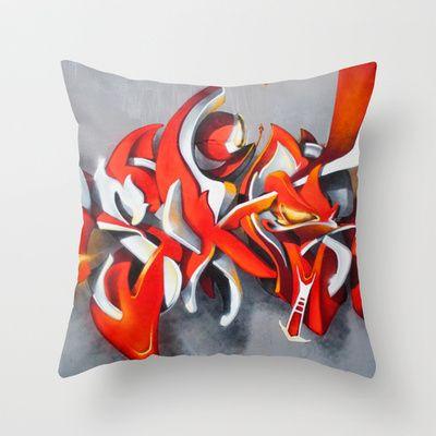 Overline 11 Throw Pillow by Original Asker - $20.00