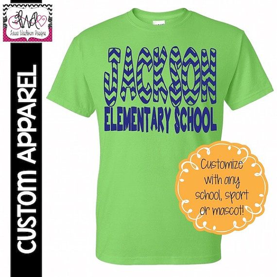 CUSTOM APPAREL: Custom Chevron School by LauraWashburnDesigns