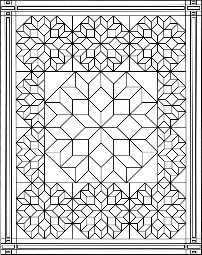 is for quilt col...Q Is For Quilt Coloring Page