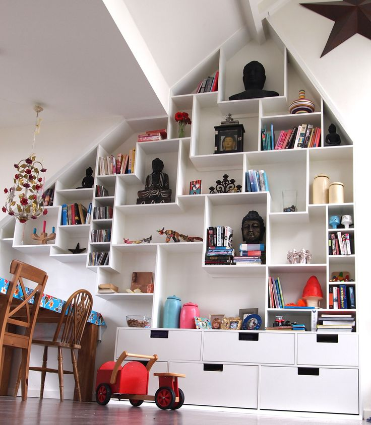 Storage for odd wall shapes doesn't have to be boring.