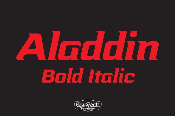 Aladdin Bold Italic - Fonts
