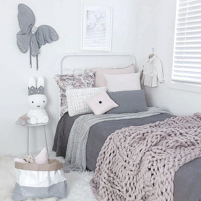Scandinavian inspired girls bedroom. Styling and photography by Justine Ash