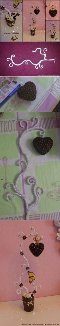 Кофейное сердце . Мини-мастер класс от Ирины Фризен.
