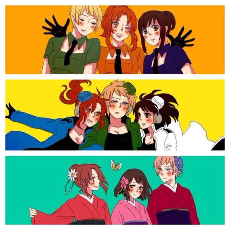 Fem! Germany, Fem! Italy, and Fem! Japan