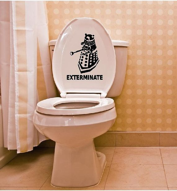 Dalek Vinyl Toilet Humor Decal By DMTGraphix On Etsy