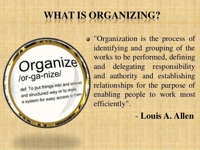 Ppt on organising