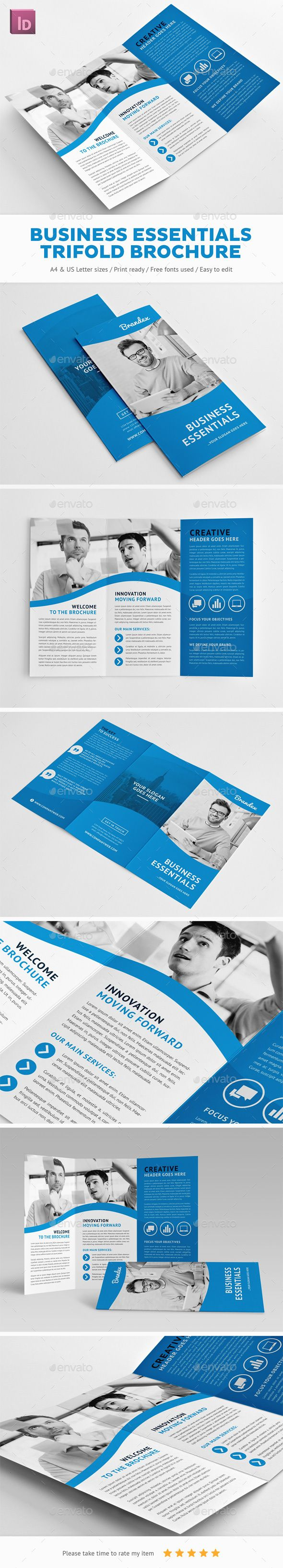 Business Essentials Trifold Brochure - Corporate Brochures