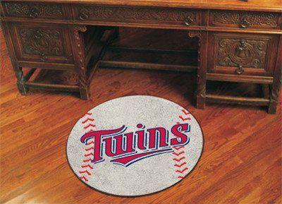 "MLB - Minnesota Twins Baseball Mat 27"" diameter"