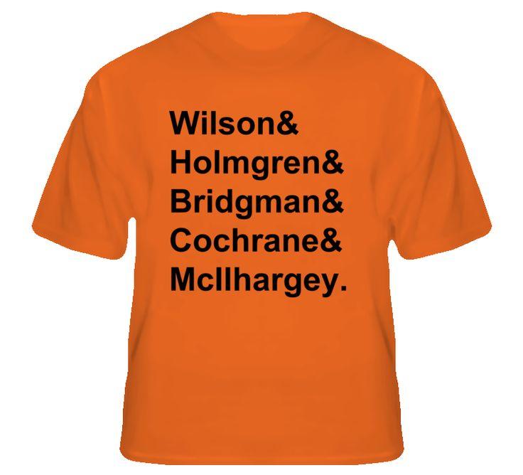 Wilson Holmgren Bridgman Cochrane McIlhargey 1980 Philadelphia Hockey Goon T Shirt