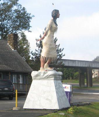 statue of Minnehaha in Elkins, WV  http://www.wvyourway.com/west_virginia/tourism.aspx