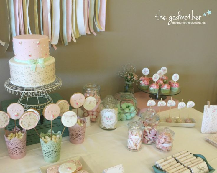 17 best images about mesa dulce comuniones on pinterest mesas sweet bar and cupcake - Mesa shabby chic ...