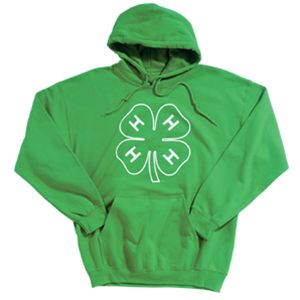 4-hmall.org - Product: 4-H Green Hoodie with Clover Outline