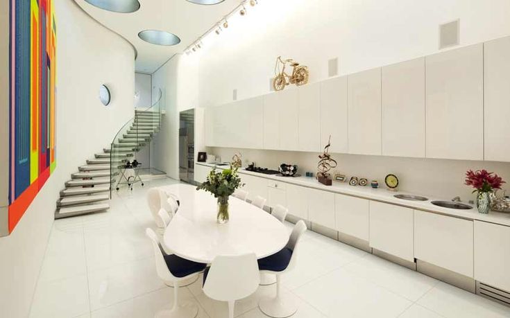 Bloomsbury: This five-bedroom London town house has a kitchen designed by Future Systems, the firm that made the space-age media centre at Lord's. £8.5m, Savills (020 7472 5000; savills.com)