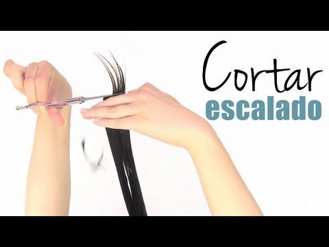 Cómo cortar el cabello escalado a capas (best tutorial ive found on the net....ive been cutting my own hair like this for almost 2 years)