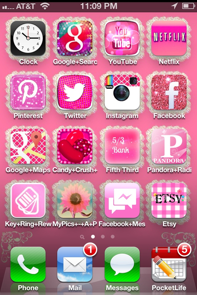 Iphone home screen made with cocoppa app cocoppa for Wallpaper home screen iphone