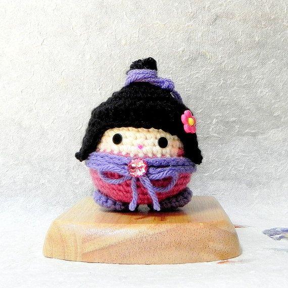 Pinku - Crochet Amigurumi kokeshi doll pattern / PDF $4