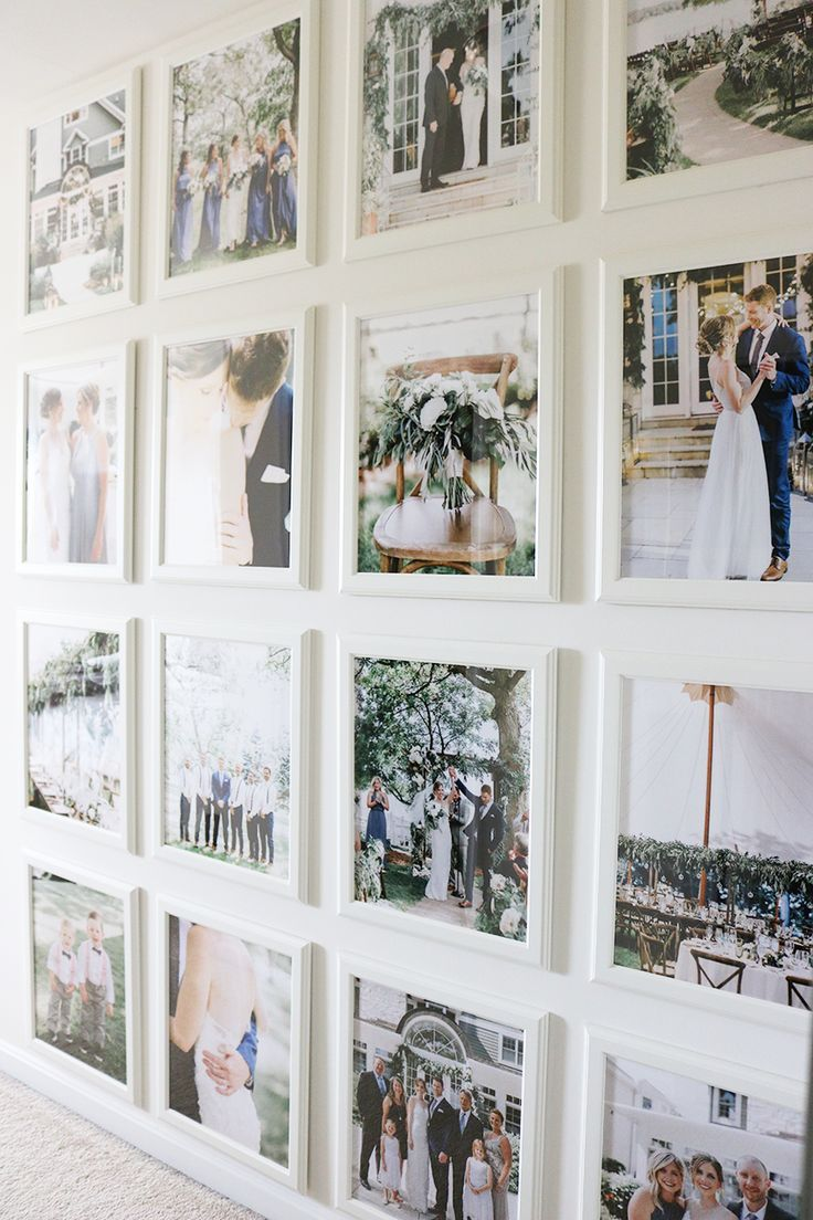 Wedding Photo Gallery Wall