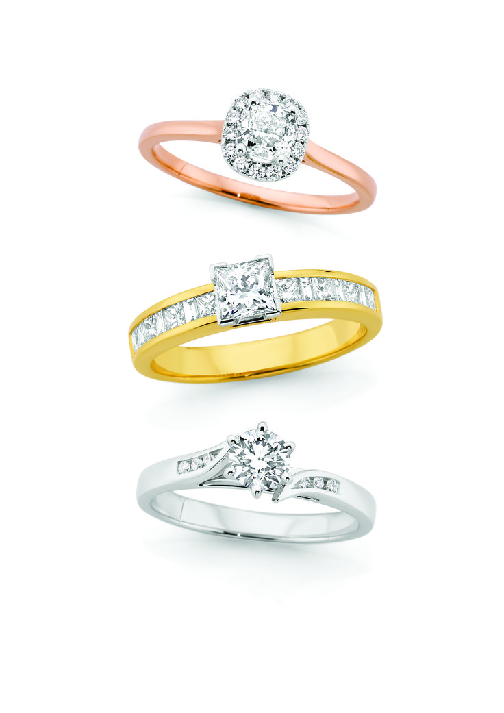 Rose, Yellow or White Gold engagement ring...take your pick!  We have it all.