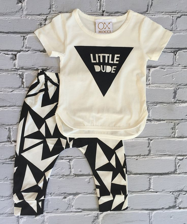 Another great find on #zulily! Little Mr. Hipster Cream 'Little Dude' Tee & Leggings - Infant, Toddler & Kids by Little Mr. Hipster #zulilyfinds
