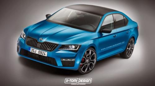 Skoda Superb rendered in Combi, Scout, RS flavours.