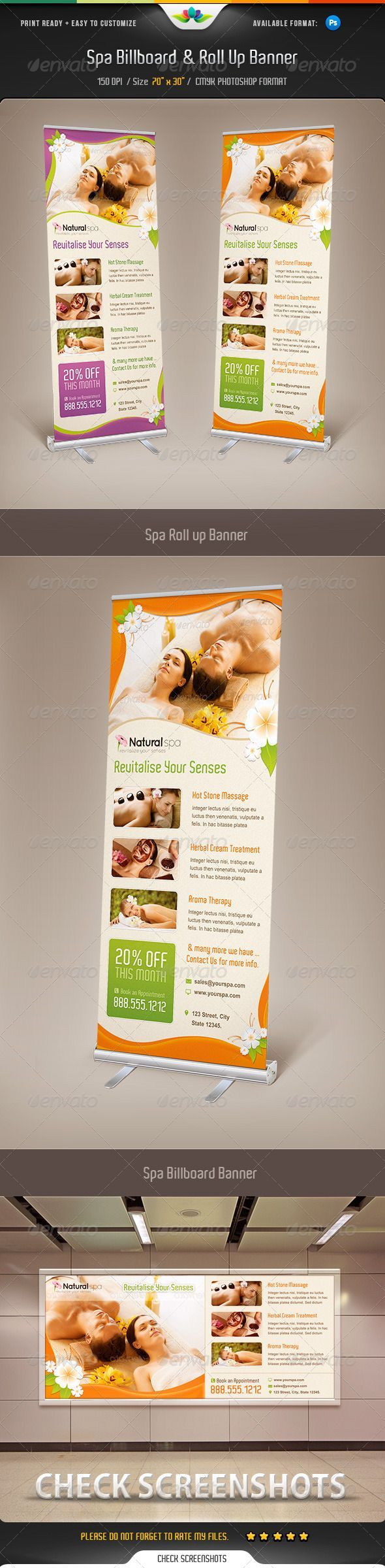 Spa Billboard & Roll Up Banner