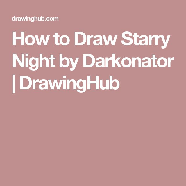 how to draw starry night step by step