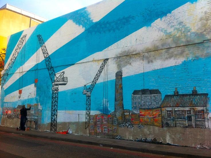 Street Art in London's Shoreditch - taken in early 2012