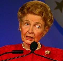 """Minority Births Are Not A Good Thing Because They 'Don't Share American Values"". Phyllis Schlafly."