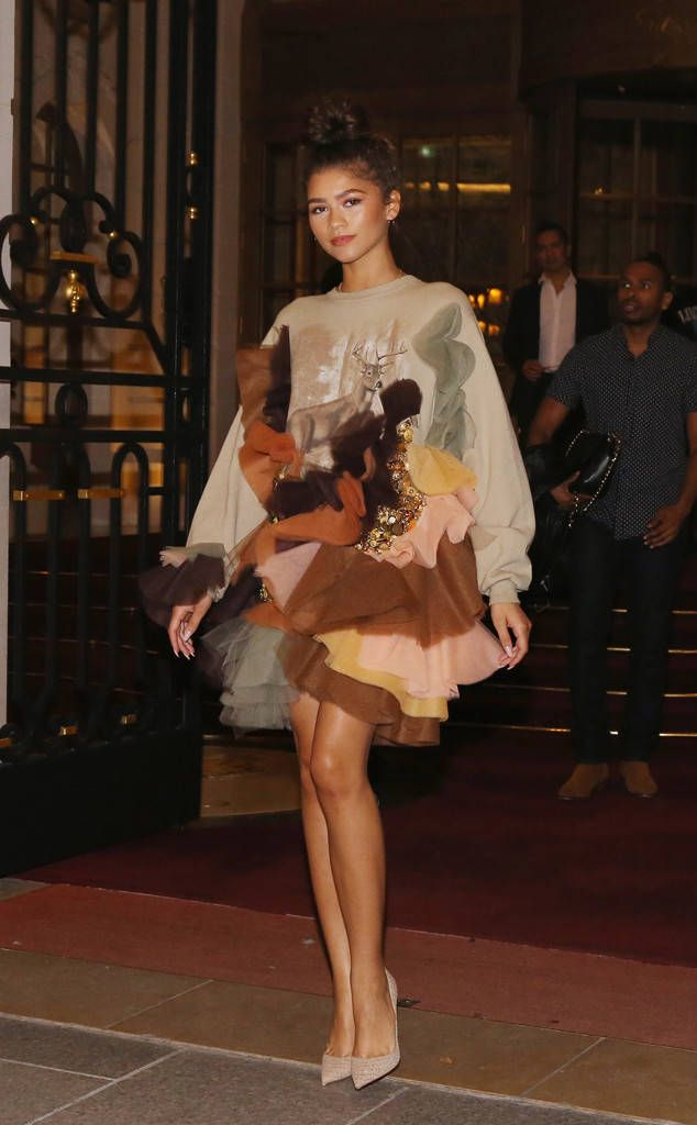 Zendaya from The Big Picture: Today's Hot Photos  The actress is seen wearing Viktor and Rolf while attending Paris Fashion Week.