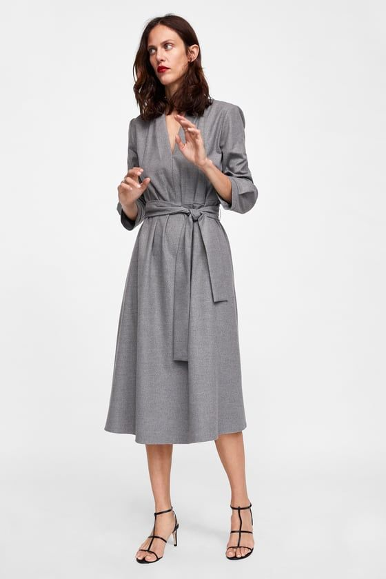 Work Grey Dress