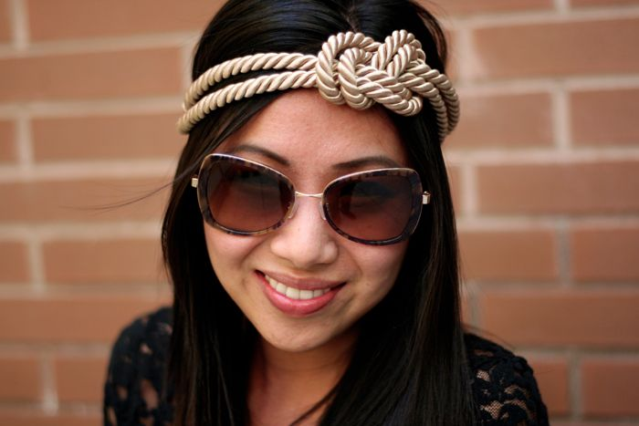 DIY: rope knot headband