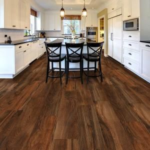TrafficMASTER Allure Ultra, Wide Red Hickory 8.7 in. x 47.6 in. Resilient Vinyl Plank Flooring with SimpleFit End Joint (20.06 sq. ft. / case), 100217S at The Home Depot - Mobile
