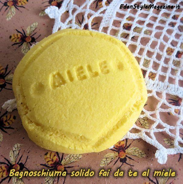 Bagnoschiuma solido fai da te al miele. Ricette Cosmetici fatti in casa.