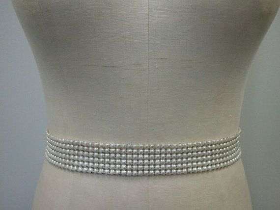 wider pearl bridal belt in ivory
