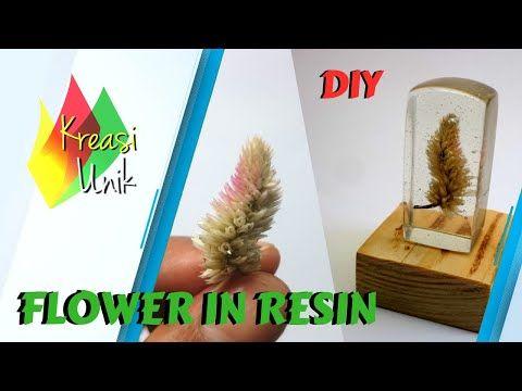 Resin Art With Real Flowers Youtube Dengan Gambar Resin Unik