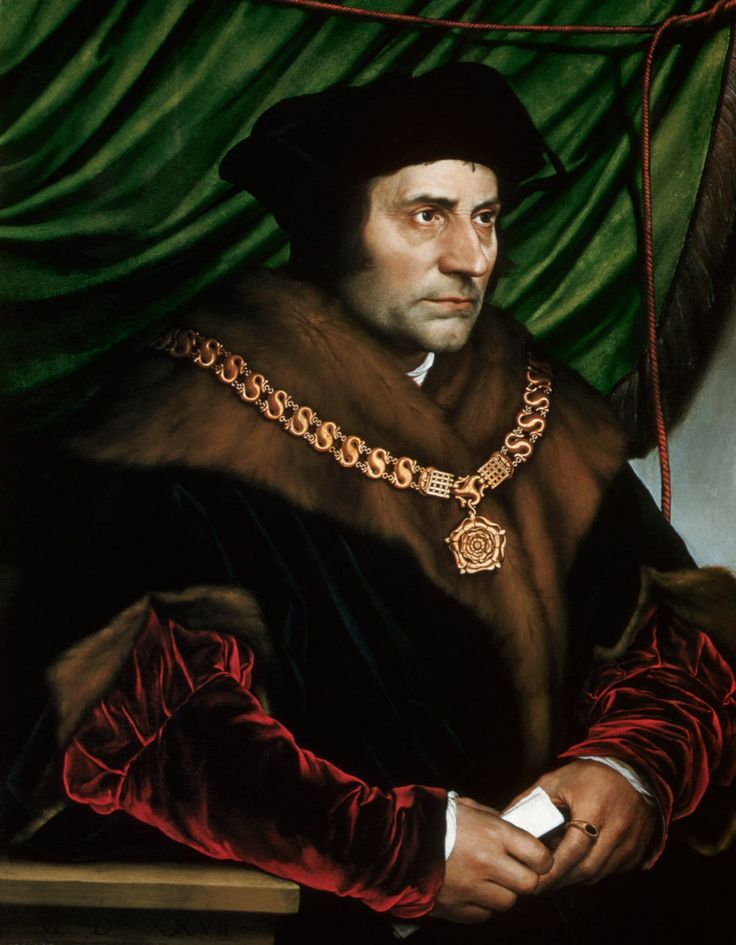 Sir Thomas More, Lord Chancellor after Cardinal Wolsey by Hans Holbein.