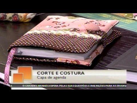 Como fazer uma capa de agenda, caderno ou livro - Costura com Riera Alta - YouTube