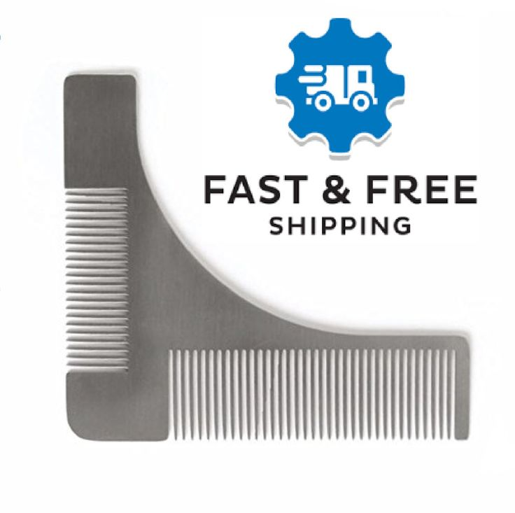 Beard Shaping Comb Tool Mens Facial Hair Grooming Shaving Template Trim Lines US #Unbranded #twosizedteethcombdesign