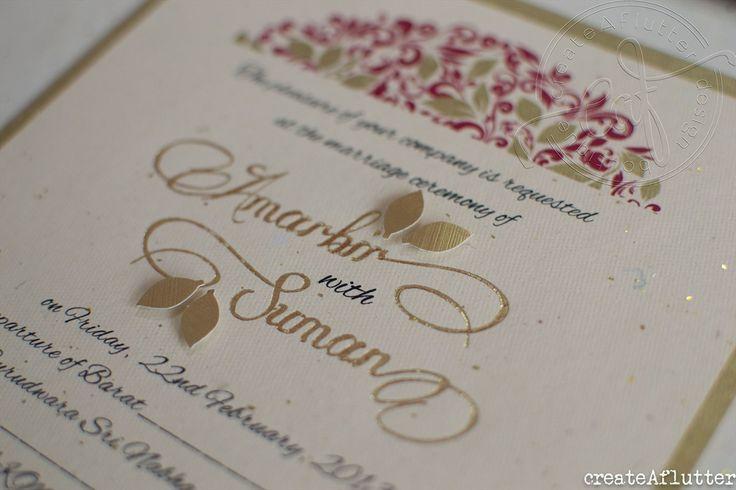Autumn Invitation suite by createaflutter. Visit us at www.createaflutte... #wedding #custom #invitation #bespoke #stationery #indian