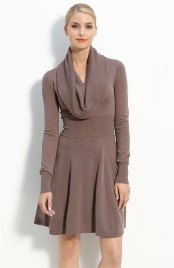 BCBGMAXAZRIA Cowl Neck Sweater Dress   Nordstrom - StyleSays