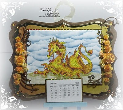 handmade calendar rick st dennis image copic colouring