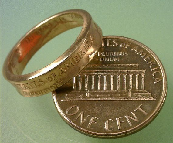 COIN RING U.S. Lincoln Penny Pinky or Toe by TheCoinSmith