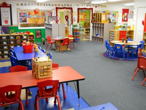 Beautiful preschool classroom